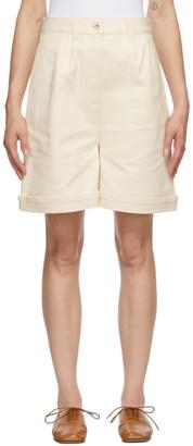 Loewe Off-White Denim Shorts