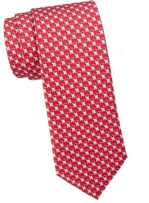 Salvatore Ferragamo Elephant-Print Silk Tie