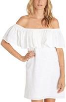 Billabong Women's Mi Bonita Off The Shoulder Ruffle Dress