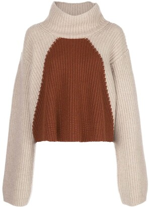 KHAITE Marianna colour-block wool jumper