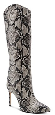 Schutz Women's Maryana Snake-Embossed High-Heel Boots