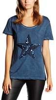 Madonna Women's Crew Neck Short Sleeve T-Shirt - Blue - 6