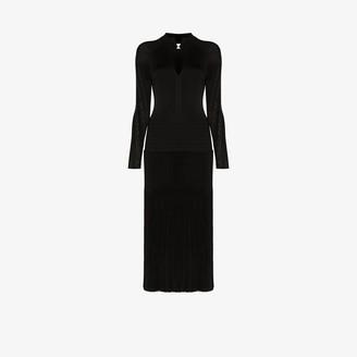 Victoria Beckham Pleated Midi Dress