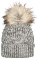 Oliver Bonas Ribbed Turn Up Pom Hat