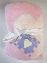 Jack Rabbit Pink Fleece Baby Blanket with Heart