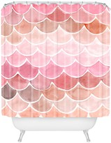 Deny Designs Wonder Forest Pink Mermaid Scales Shower Curtain