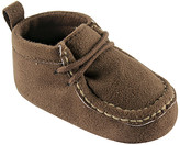 Luvable Friends Boys' Moccasins Brown - Brown Suede Bootie - Boys