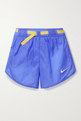 Nike Icon Clash Belted Ripstop Shorts - Blue