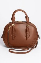 Burberry 'Orchard - Small' Brogued Leather Satchel