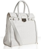 white croc embossed leather 'Rosabel' structured tote
