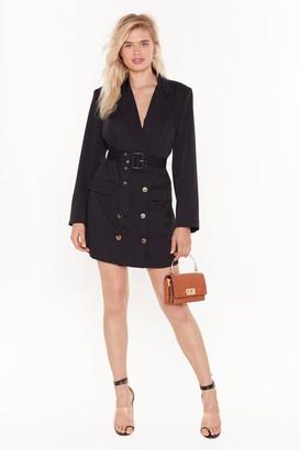Nasty Gal Womens We've Got the Power Oversized Blazer Dress - black - 4