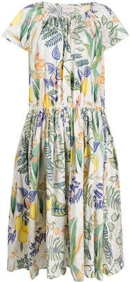 La DoubleJ botanical print dress
