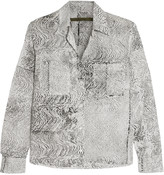 Enza Costa Printed cotton blouse