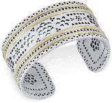 Lucky Brand Two-Tone Openwork Cuff Bracelet