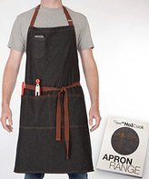 Chef Apron by No1Cook Durable cotton denim apron with pockets for men and women. Modern design – suitable for barista apron, cooking apron, plus size apron, grilling apron and kitchen apron.