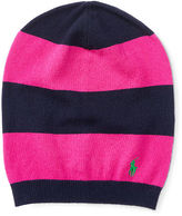 Ralph Lauren Striped Slouchy Wool Hat