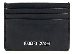 Roberto Cavalli Smooth Leather Card Case