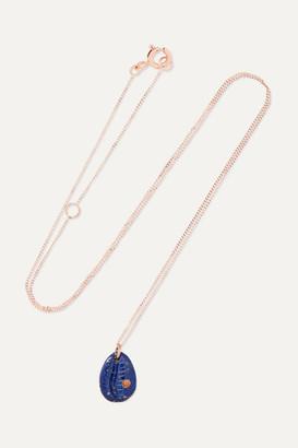 Pascale Monvoisin Cauri N2 9-karat Gold, Lapis Lazuli And Faux Coral Necklace