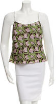 Peter Som Printed Silk Top