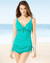 Soma Intimates Spirit Soft D-F Cup Plunge Swim Tankini Top Jade