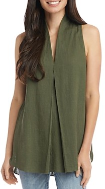 Karen Kane Pleated-Front Sleeveless Top