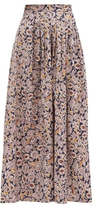 Max Mara Floral-print Skirt - Pink Multi