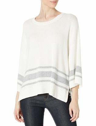 NYDJ Women's Kimono Sleeve Striped Sweater