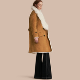 Burberry Double-breasted Shearling Coat