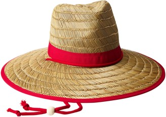 San Diego Hat Company Women's Rush Straw Lifeguard Hat with Fabric Band