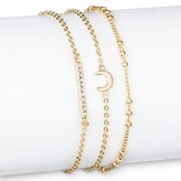 SUGARFIX by BaubleBar Trio Bracelet Set - Gold