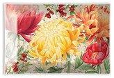 Michel Design Works Rectangular Glass Soap Dish, Morning Blossoms
