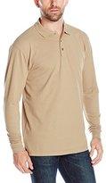 Cutter & Buck Men's Long-Sleeve Evans Pique Polo T-Shirt