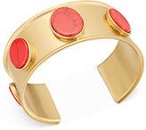 Kate Spade Gold-Tone Red Stone Cuff Bracelet