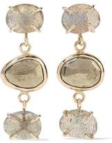 Melissa Joy Manning 14-Karat Gold Labradorite And Pyrite Earrings