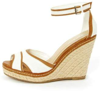 Bamboo Peep Toe Wedge