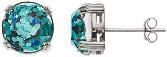 Aleure Precioso Aleure Sterling Silver Glitter Stud Earrings