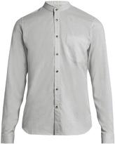 Orley Raw-edge granddad-collar cotton shirt