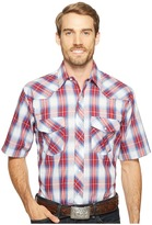 Roper 1028 Royal, Red and White Plaid Men's Clothing