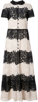 RED Valentino buttoned lace dress - women - Cotton - 42