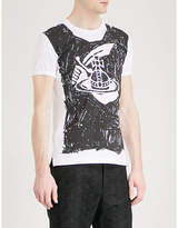 Anglomania Orb-print cotton-jersey T-shirt