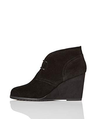 find. Lace Up Wedge Bootie Ankle Boots, Black)