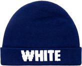 White Mountaineering Navy Knit Beanie