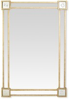 The Well Appointed House Elegant Mirror with Stars in Corners and Gold Leaf Finish