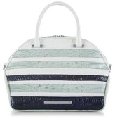 Brahmin Hudson Croc Embossed Leather Satchel - Blue