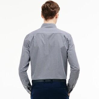 Lacoste Men's Regular Fit Mini Check Poplin Shirt