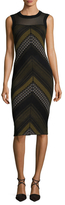 Rachel Roy Chevron Tweed Sweater Sheath Dress