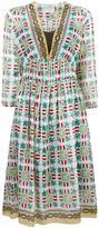 Forte Forte geometric flowers print dress - women - Silk/Cotton/Cupro - I
