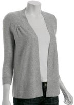 heather grey cashmere open cardigan