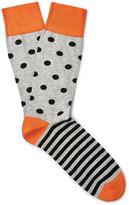 Corgi Patterned Cotton-Blend Socks