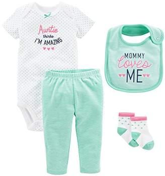 Carter's Simple Joys by Baby Girls' 4-Piece Bodysuit